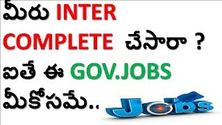 government jobs after 12/Inter in Telugu|Details ofcentral,state Government Jobs after 12| Vision tv