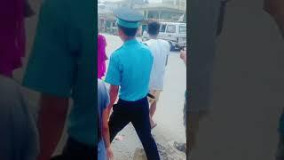 Nepali traffic police aaam janata sagaii sawarii sadan chalak sanga masti gardaii