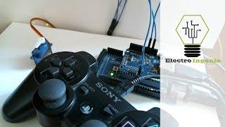 Arduino + USB Shield + Servo Control PS3