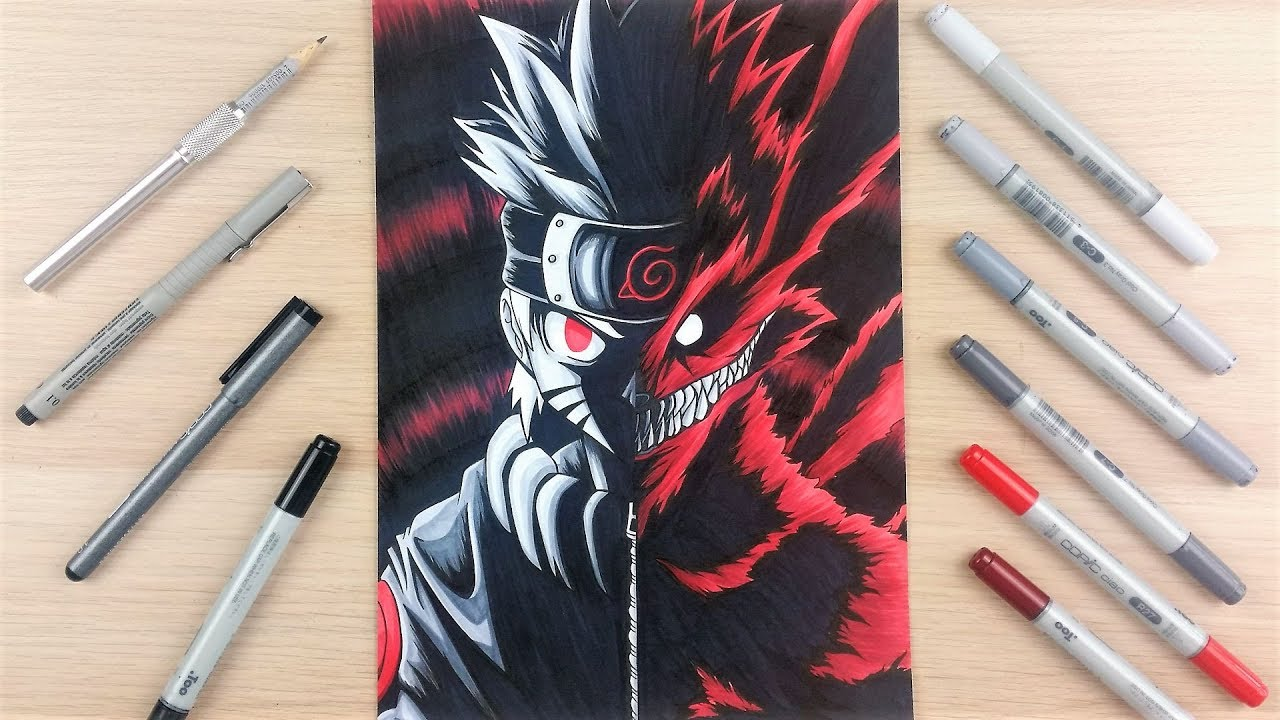 Drawing ✖️ naruto 9 tailed beast ✖️ tolgart