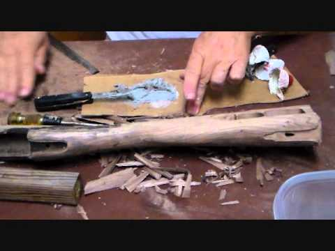 Restocking a Brunswick Rifle Part 3  Stock Carving