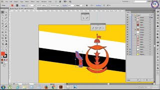 50. Adobe Illustrator Tutorials: Draw Brunei Flag Part 2 - Khmer Computer Knowledge