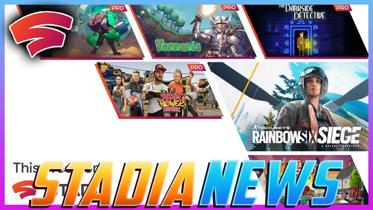 Stadia News: Rainbow Six Siege Arrives Tomorrow, 4 New Pro Games & Mega Sales