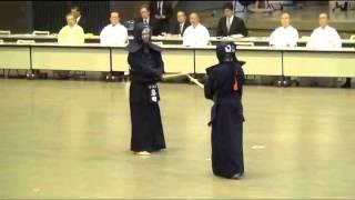 Kendo 8 dan Tournament   Sato vs Onda Final, Tomohito Shino Cup 2014, Tokyo