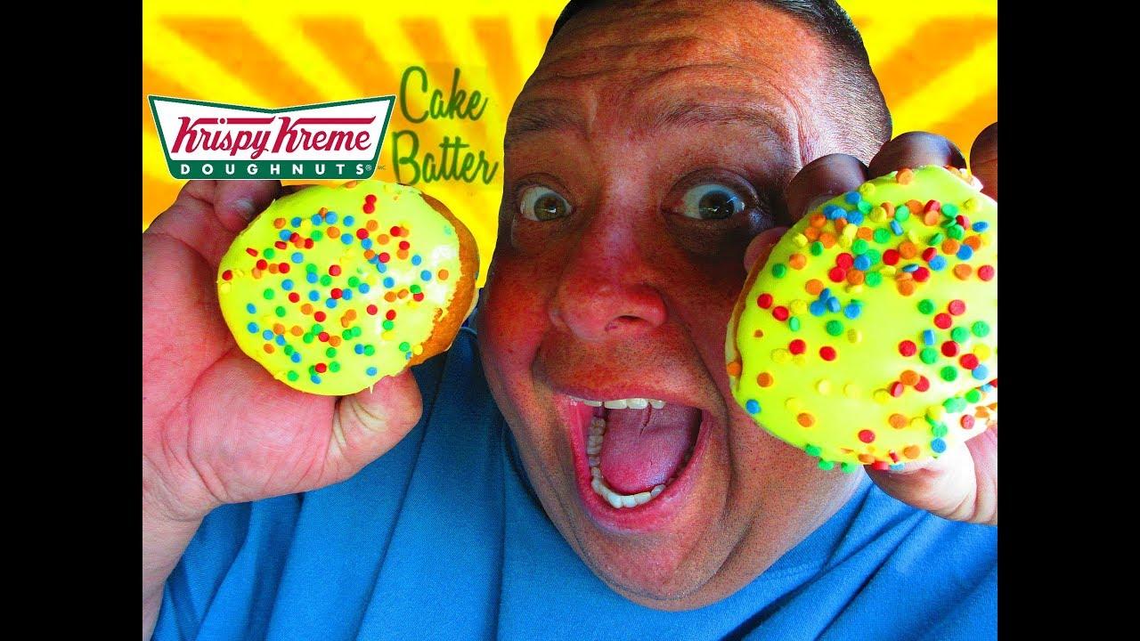 Krispy Kreme CAKE BATTER DOUGHNUT Review YouTube