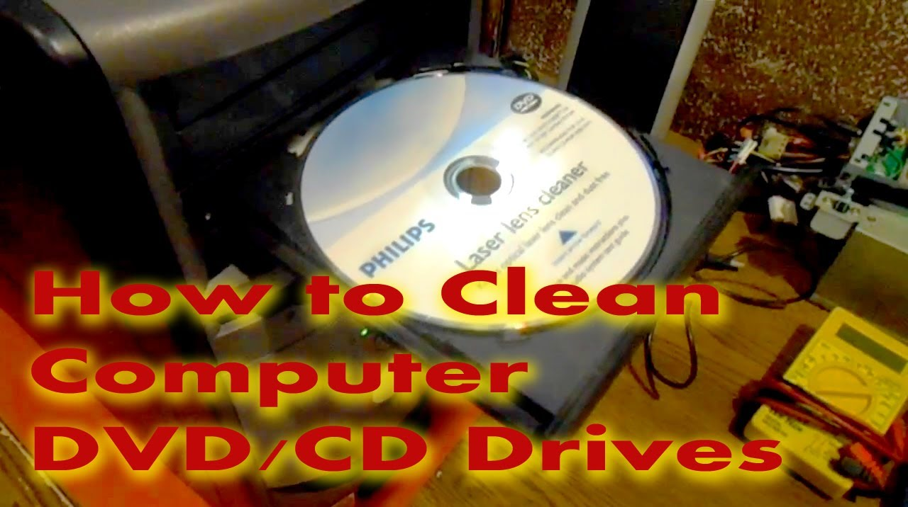 How To Clean Cddvd Laser Lens In Computer Youtube