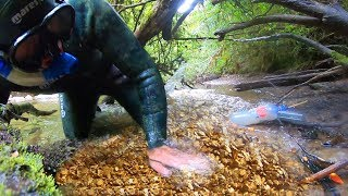 How to find GOLD in creeks overnight PROSPECTING trip DAY 1 (NEW RECORD!!!)
