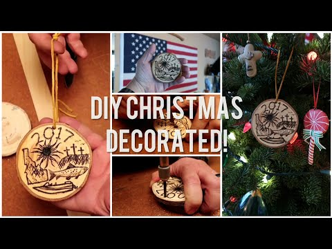 DIY Christmas Ornaments & Decorations From Old Recycled Christmas Trees!