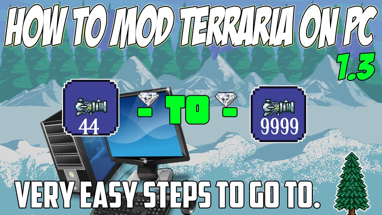 how to put terraria mods in to terraria