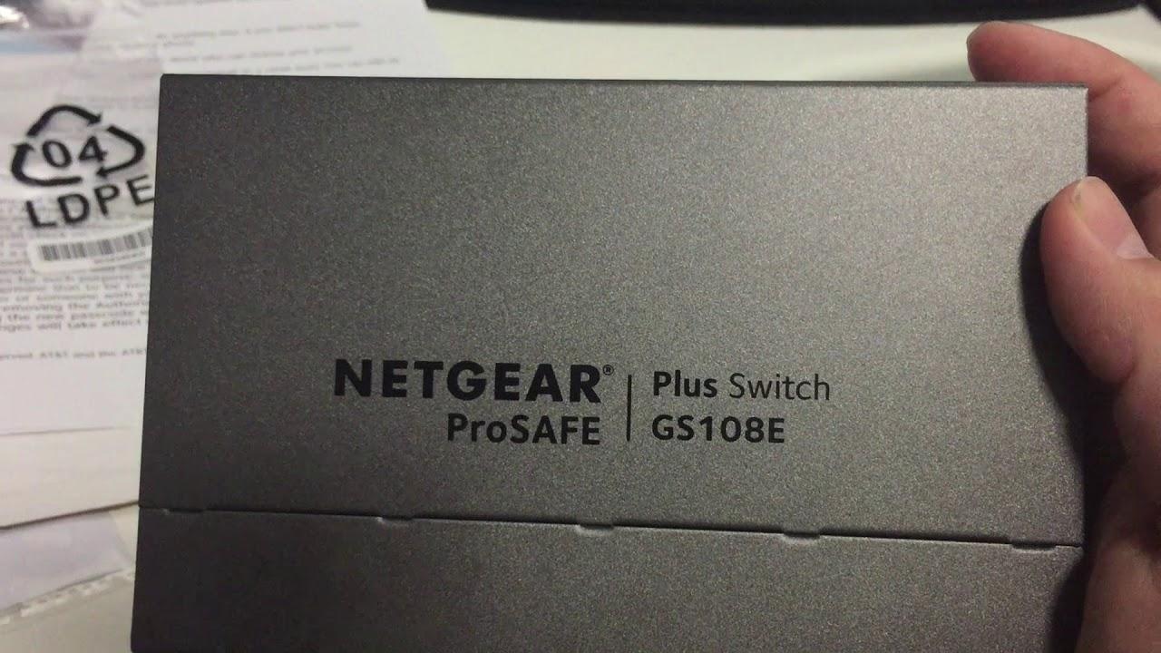 GSS108E NETGEAR 8-Port Gigabit Smart Managed Plus Click Switch ProSAFE Lifetime Protection