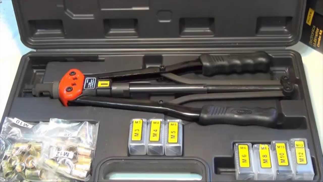 How to use / setup a long handled threaded rivet tool