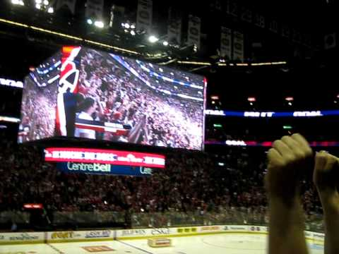 BELL CENTRE - GOAL- CROWD GOES NUTS!  GAME 7 HABS VS PENS MAY 12 2010