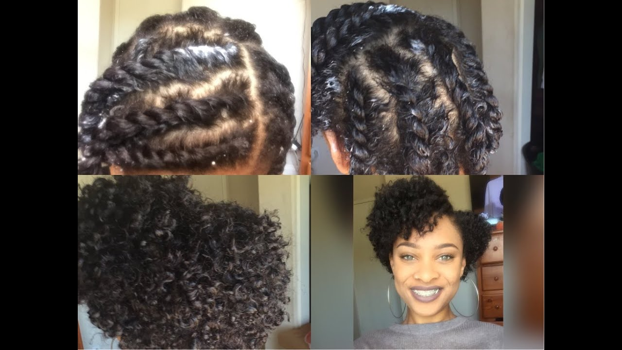 Flat Twist Out On Short Natural Hair Twa Youtube