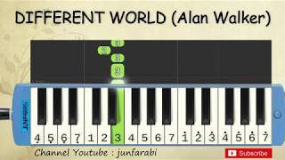 not pianika different world - alan walker feat sofia carson - tutorial belajar pianika