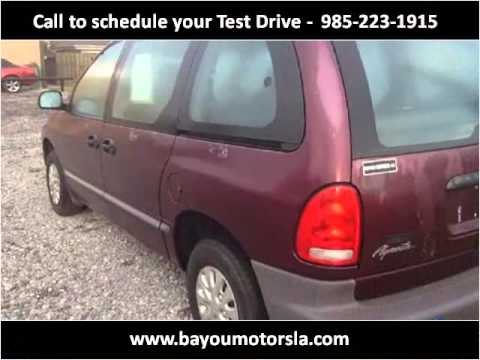 1998 plymouth voyager used cars new orleans la youtube. Black Bedroom Furniture Sets. Home Design Ideas