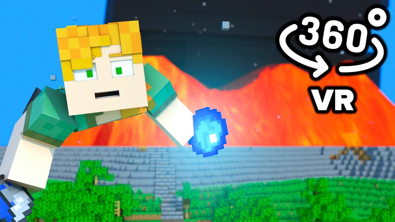 Volcano Eruption 360/VR Video - Minecraft Animation