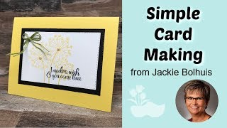 Handmade Greeting Card with Stitched Details Made Simple