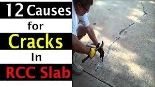 12 main Causes of Cracks in RCC Slabs