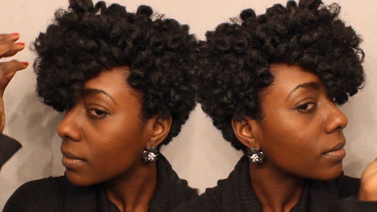 Short Curly Crochet Hair Styles : Short Tapered Crochet Wig Tutorial - YouTube