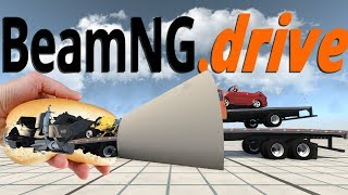Turning Vehicles Into Metal Sausage Rolls - Car Funnel Mod - BeamNG Drive
