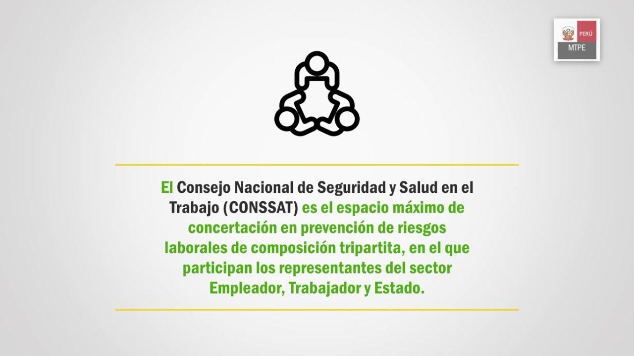 ¿Qué es el Consejo Nacional de Seguridad y Salud en el Trabajo (CONSSAT)?