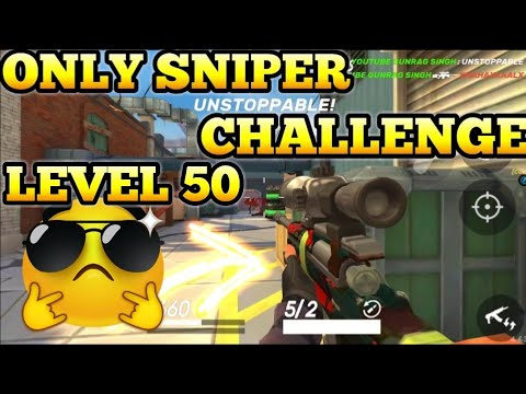 USING ONLY SNIPER AT LEVEL 50 CHALLENGE GUNS OF BOOM GAMEPLAY