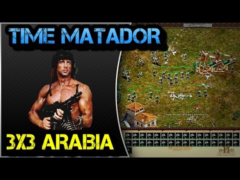 Age of Empires 2 HD 3x3 Arabia Turks AoE2HD Gameplay PT BR