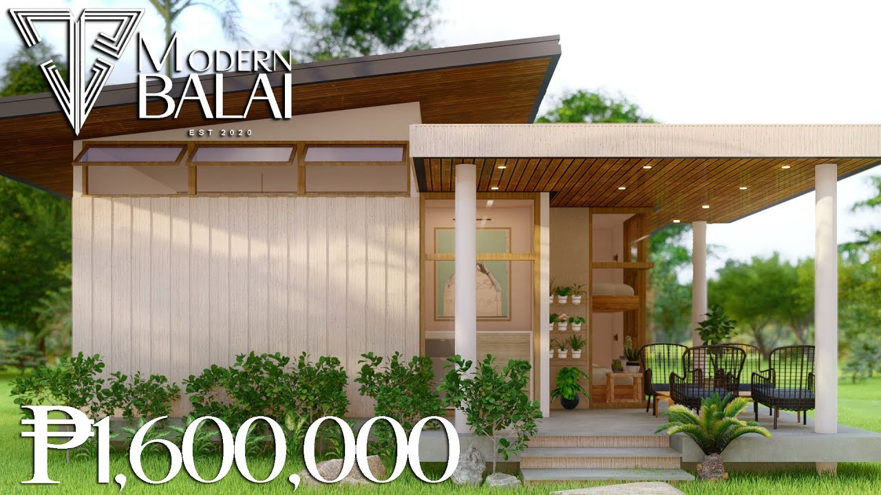 PINOY SMALL HOUSE DESIGN   88 SQM. THREE BEDROOM LOW-COST HOUSE   MODERN BALAI
