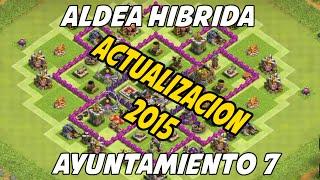Diseño de Aldea Hibrida Para Ayuntamiento 7 - Actualizacion 2015 Clash Of Clans