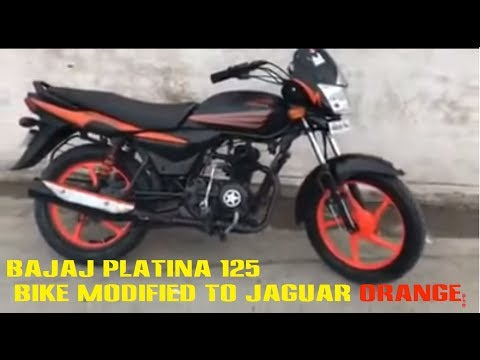 Bajaj Platina Bike Modified To Jaguar Orange Youtube