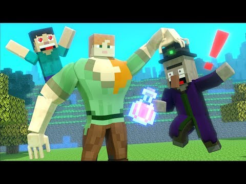 Witch Love Story - Minecraft Animation Life Of Alex And Steve