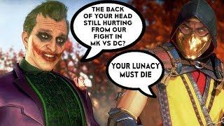 Joker Mocks Scorpion Because Of Their Fight In Mortal Kombat Vs DC Scene - Mortal Kombat 11