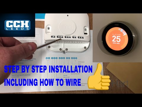 Nest Learning Thermostat Installation How To Wire Youtube