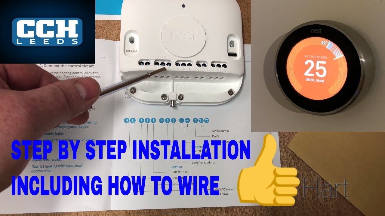 NEST LEARNING THERMOSTAT INSTALLATION - How To Wire on