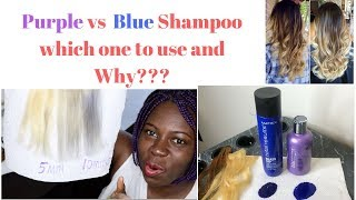 Purple vs Blue Shampoo. Which one to use and Why?