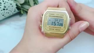 CASIO卡西歐電子手錶復古金色EC16 選購去→http://bit.ly/2R3bBOE.