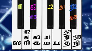 Tamil Music Class Lesson 1 Part 2 : Music Keyboard maturm Swarangal