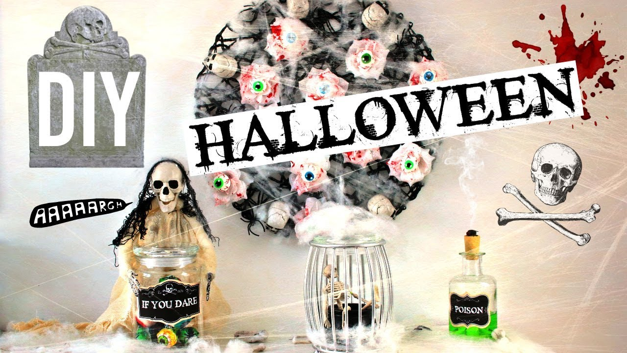 diy deco halloween fran ais d coration facile et pas ch re youtube. Black Bedroom Furniture Sets. Home Design Ideas