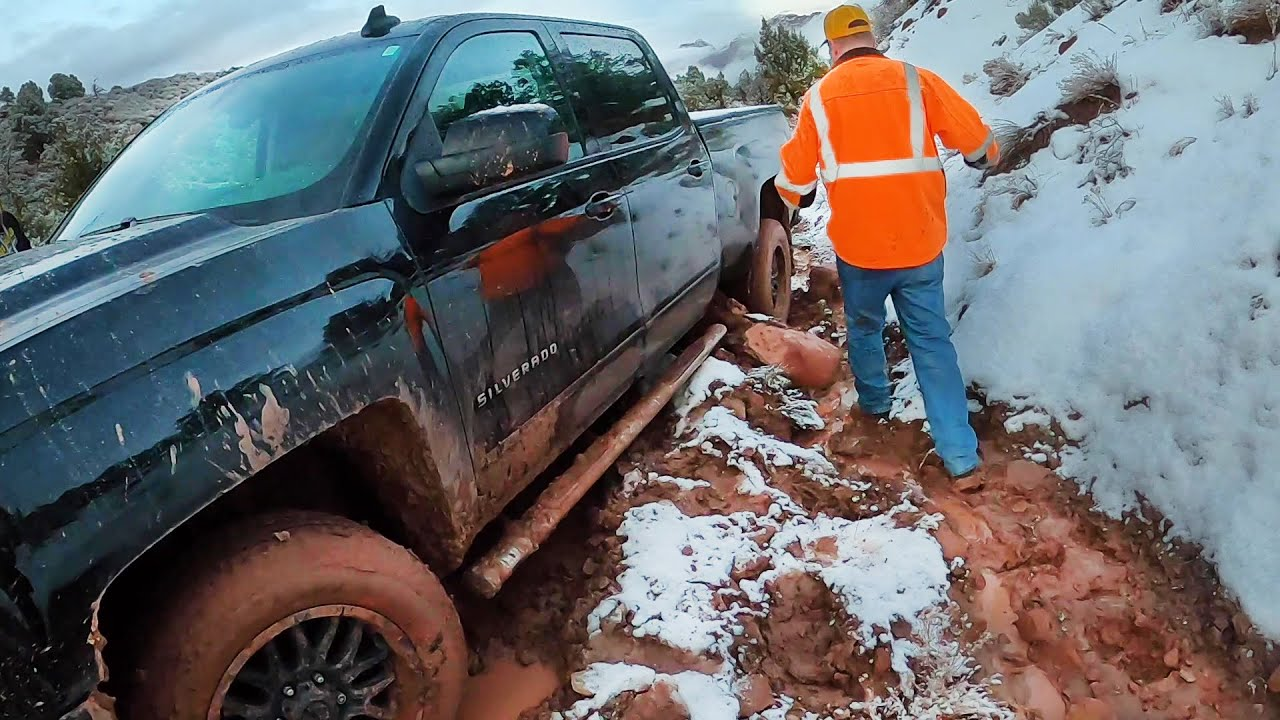 I've Never Seen The Trail Like This...Chevy Silverado Stuck Bad