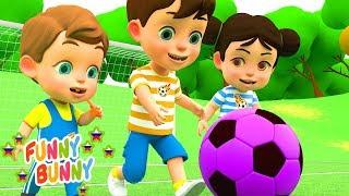 Футбольная песня Football Song Funny Bunny детские песенки и мультики