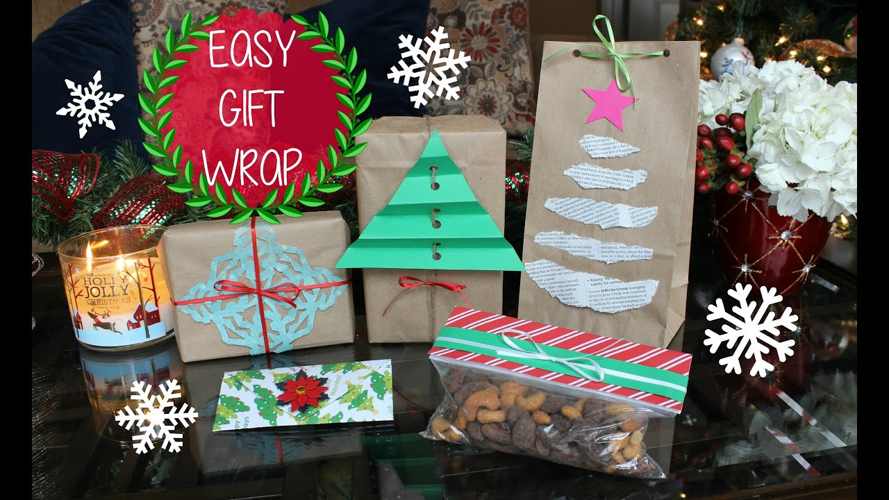 Christmas gift wrap hacks 5 easy diy gift wrapping ideas youtube negle Image collections