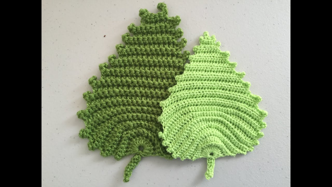 Crochet Pattern - Irish crochet leaf pattern - YouTube