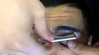 How to razor shape eyebrows