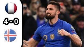 Download Video France 4 vs 0 Iceland Cuplikan Goal Goal Kualifikasi Piala Eropa 2019 MP3 3GP MP4