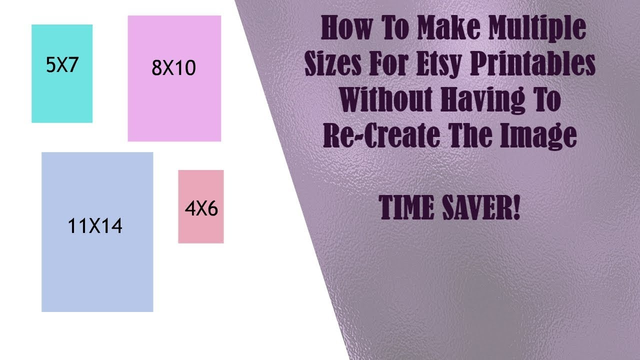 graphic regarding Etsy Printables identified as How Towards Generate Numerous Dimensions For Etsy Printables