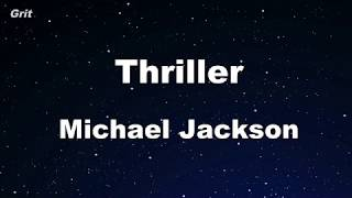 Thriller - Michael Jackson Karaoke 【No Guide Melody】Instrumental