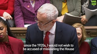 Corbyn corrects the record on last night's defeat