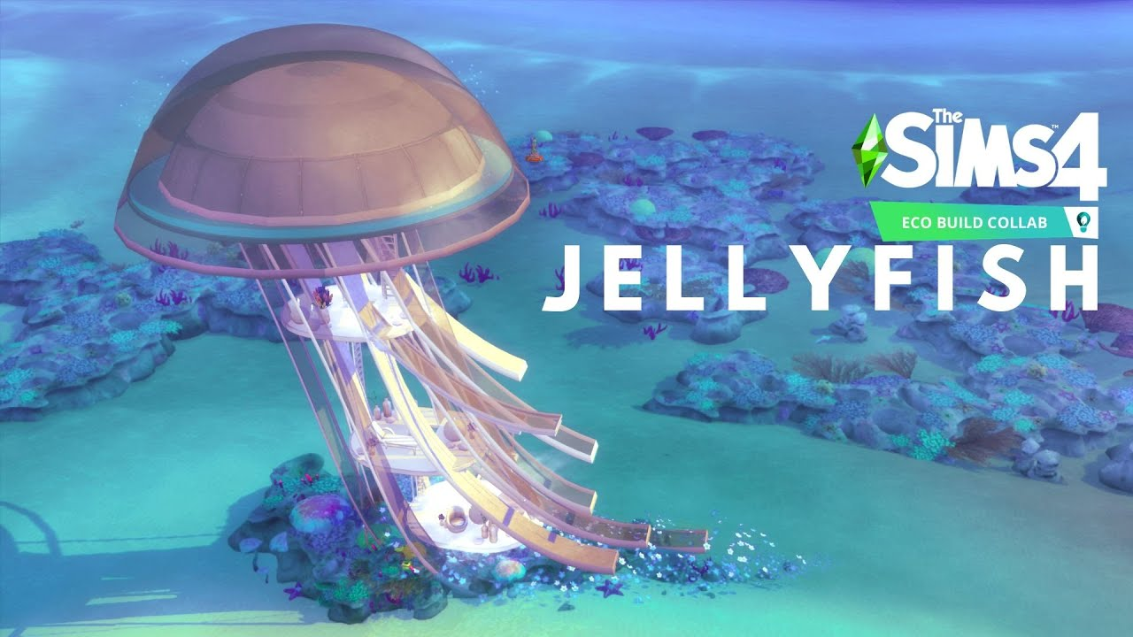 JELLYFISH   ECO OCEAN HOUSE   The Sims 4 Speed Build Eco Collab   NOCC