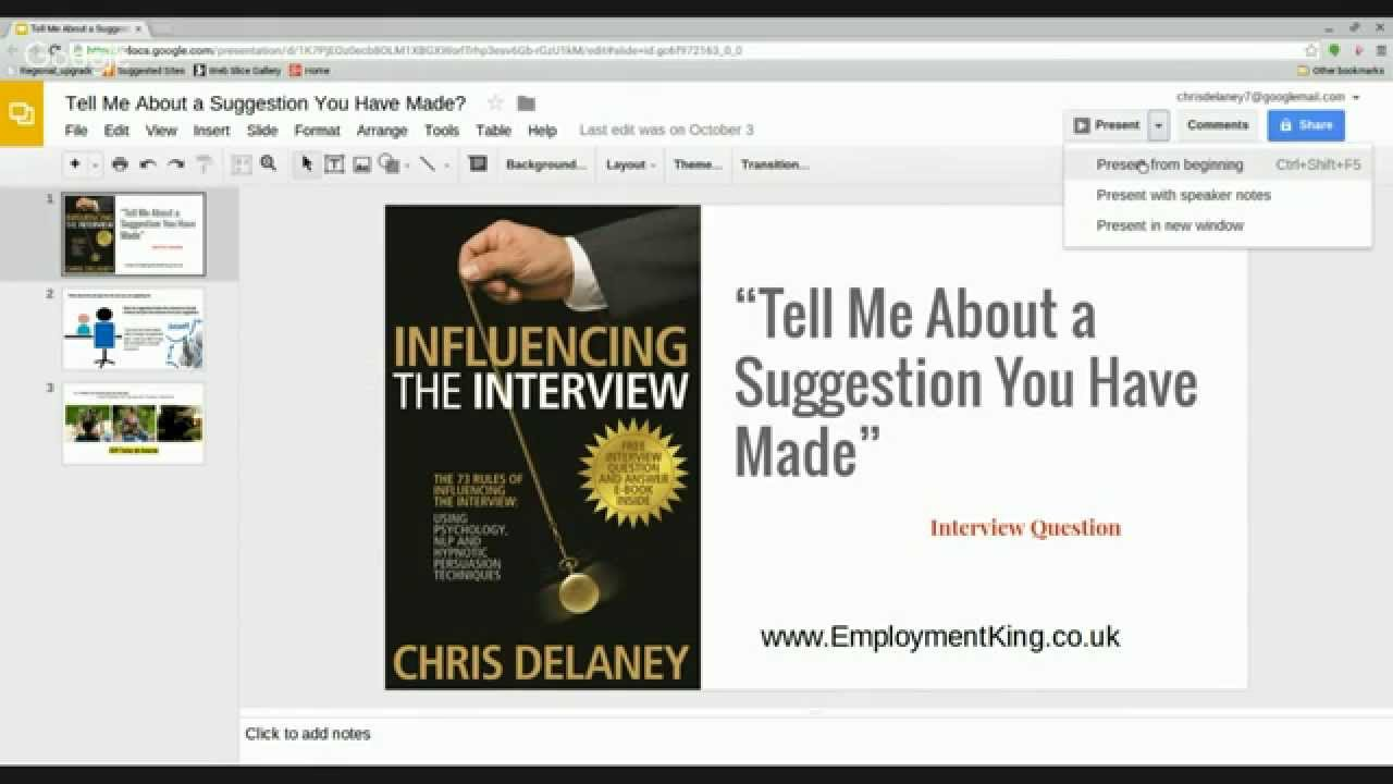 Interview Question And Answer Tell Me About A Suggestion You Have Made?