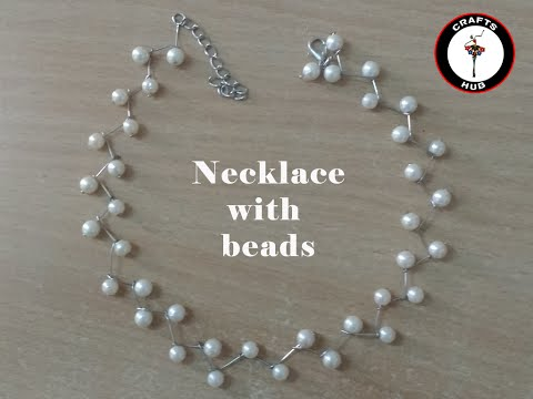Necklace making with beads